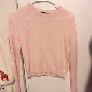 Brandy Melville pink crop sweater